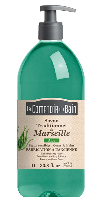 Savon Traditionnel de Marseille Aloe 1 L