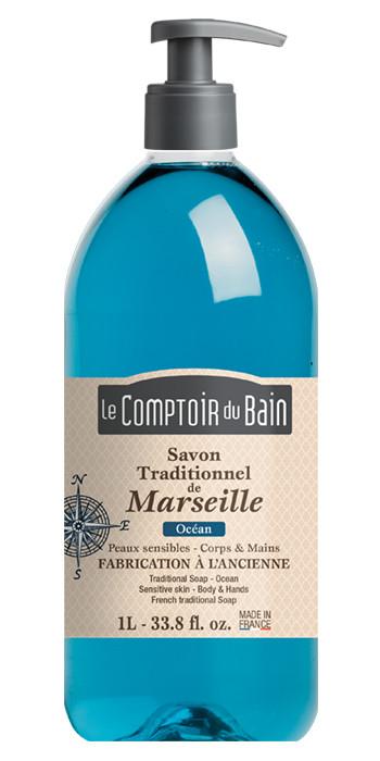 Savon Traditionnel de Marseille Océan 1 L