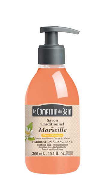 Savon traditionnel de Marseille Fleur d'oranger 300 mL