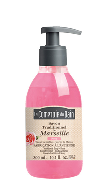Savon traditionnel de Marseille Rose 300 mL