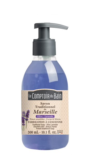 Savon traditionnel de Marseille Olive Lavande 300 mL