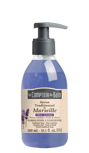 Savon traditionnel de Marseille Olive Lavande 300 mL