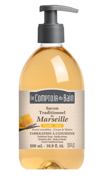 Savon traditionnel de Marseille Vanille-Miel 500 mL