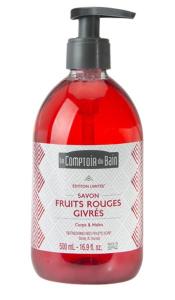 Savon Fruits Rouges Givrés 500 mL – édition limitée