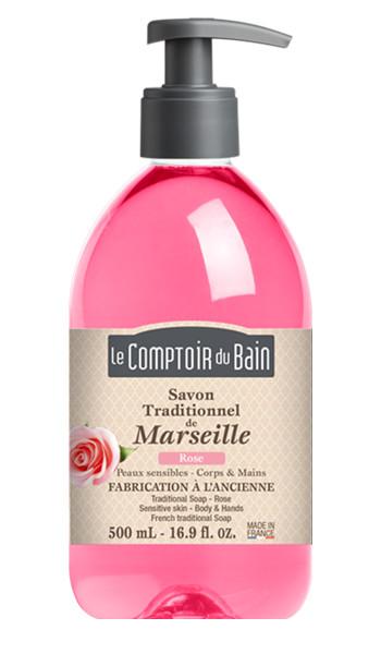 Savon traditionnel de Marseille Rose