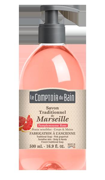 Savon traditionnel de Marseille Pamplemousse rose