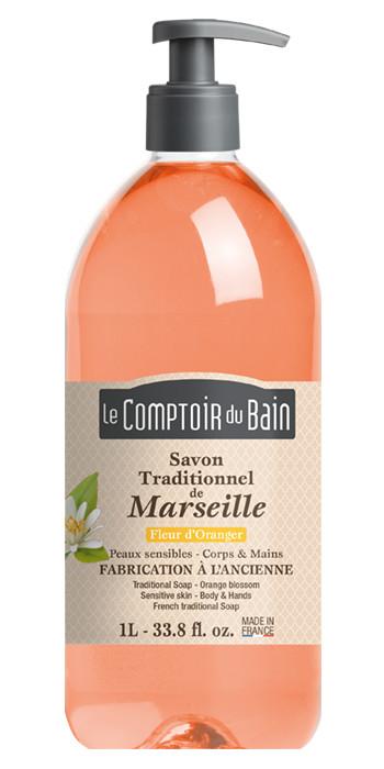 Savon traditionnel de Marseille Fleur d'oranger 1L