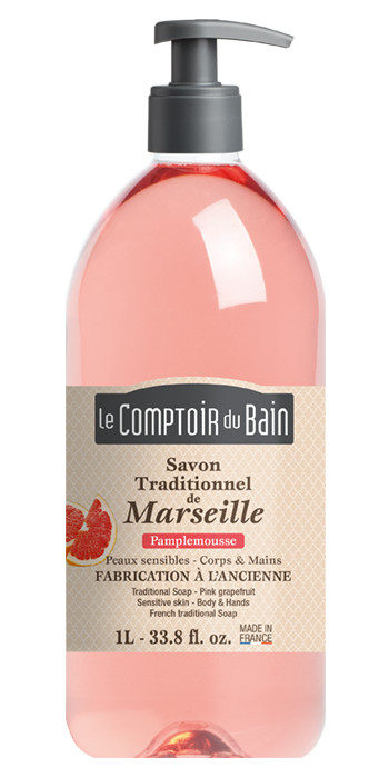 Savon traditionnel de Marseille Pamplemousse rose