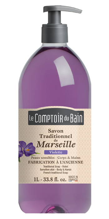 Savon traditionnel de Marseille Violette