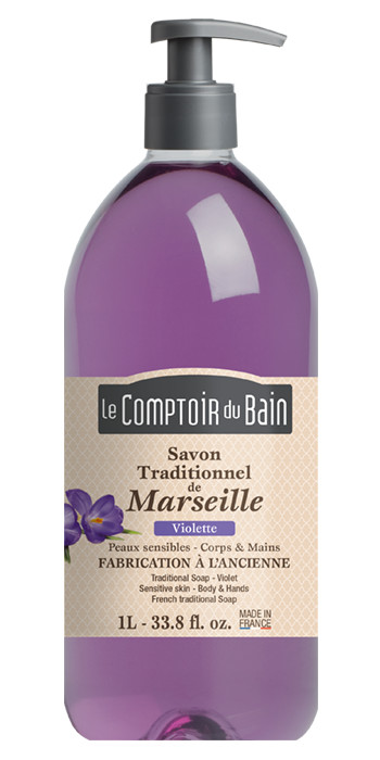 Savon traditionnel de Marseille Violette