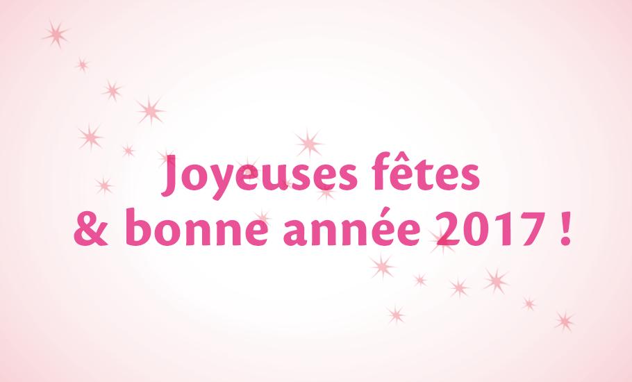 Joyeuses fêtes et bonne année 2017 !