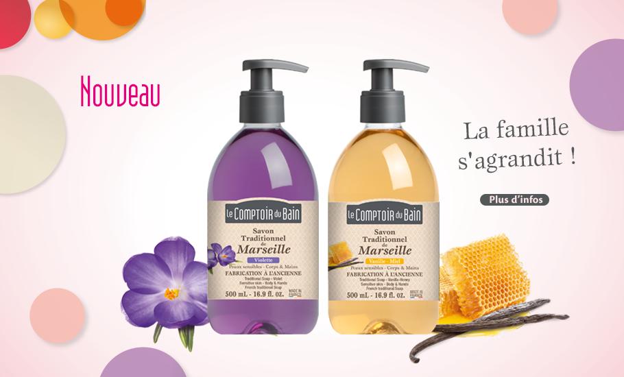 Savons traditionnels Vanille-miel et Violette