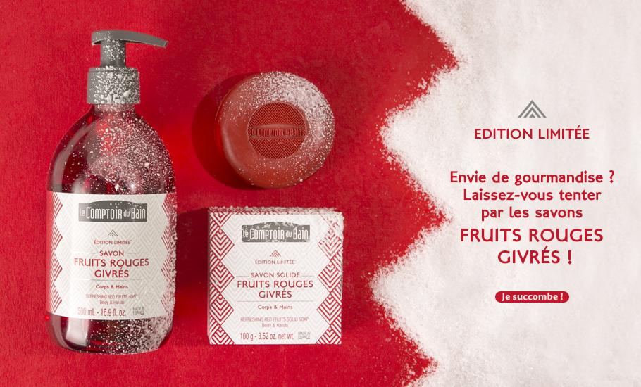 Savons Fruits Rouges Givrés - Edition limitée