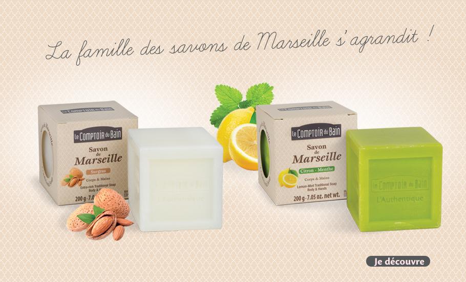 Savon de Marseille Surgras et Citron-Menthe